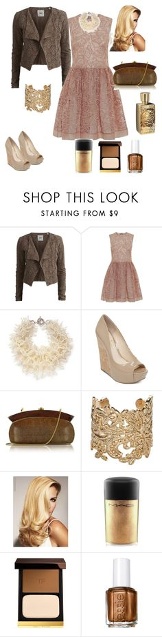 """RED Valentino"" by ichtar ❤ liked on Polyvore featuring Object Collectors Item, RED Valentino, Miriam Haskell, Jessica Simpson, Rocio, Bonnie Star, MAC Cosmetics, Tom Ford, Essie and Lancôme"
