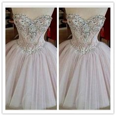 Tulle Lace Homecoming Gowns/Cute Party Dress/Elegant Sweet 16 Dress #H079