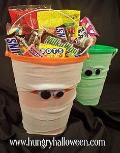 Halloween Goodie Bag Ideas - Cute idea for my goodie bag I make Preston each year