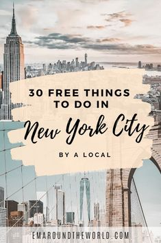 30 Free Things to Do in New York City By a Local - A complete list of the best FREE things to enjoy when you visit NYC. Highlights include Brooklyn Bridge, The Vessel, The Highline, Central Park, Grand Central Station and so many others. Places To Travel, Places To See, Travel Destinations, Holiday Destinations, Central Park, Central Station, Brooklyn Bridge, Vacation Ideas, Oahu