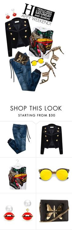 """HAPPY FRIDAY!!!"" by shortyluv718 ❤ liked on Polyvore featuring Replay, Yves Saint Laurent, STELLA McCARTNEY, Gucci and Sergio Rossi"