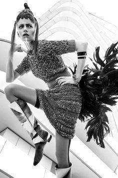 L'Officiel Ukraine April 2015 | Anna Haftenberger by Reno Mezger [Fashion]