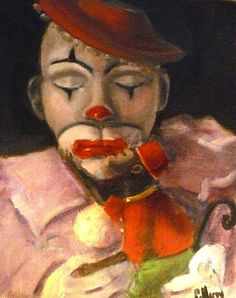 Clown and his Friend Painting by Cheryl Hardy - Clown and his Friend Fine Art Prints and Posters for Sale