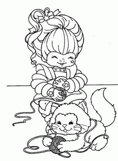 Rainbow Brite Playing With Pet Coloring Pages Elmo Coloring Pages, Ballerina Coloring Pages, Printable Adult Coloring Pages, Coloring Pages For Girls, Coloring Pages To Print, Coloring For Kids, Free Coloring, Coloring Sheets, Vintage Coloring Books