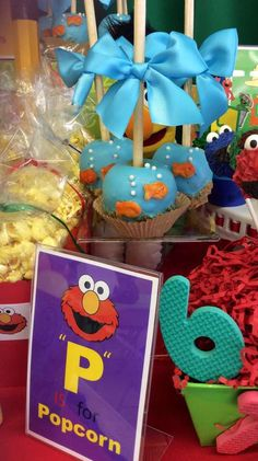 Jasmin M's Birthday / Sesame Street - Photo Gallery at Catch My Party 1st Birthday Foods, Twin First Birthday, Elmo Birthday, First Birthday Parties, First Birthdays, Birthday Ideas, Seasame Street Party, Sesame Street Cake, Sesame Street Birthday