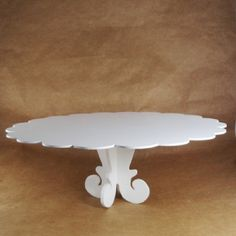 Suporte para bolo em mdf cor branca 43 cm de diâmetro |