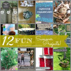 12 Fun Summer Projects….. #diy #summer