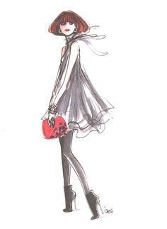 Izak Zenou #fashion #illustration