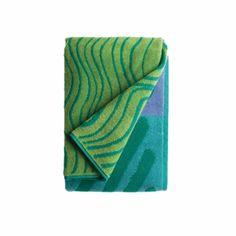 Marimekko Silkkikuikka Bath Towel - Turquoise/Lilac - Click to enlarge
