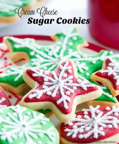 These Cutout Cream Cheese Sugar Cookies are a family holiday tradition at our house. The creamy batter makes spectacular sugar cookies for the holidays and can be used as a fun family project when baked and decorated for gift giving and sharing with friends and neighbors. Sprinkle with colorful sugar crystals prior to baking or decorate with your favorite frosting after they've cooled, for a sweet project kids of all ages are sure to enjoy.