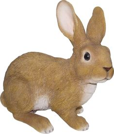 Made to look as real as possible, this charming garden figurine makes your yard look as if it's full of woodland creatures. Garden Animal Statues, Garden Statues, Rabbit Sculpture, Sculpture Clay, Bunny Painting, Ceramic Painting, Dinosaur Garden, Large Rabbits, Bunny Rabbits