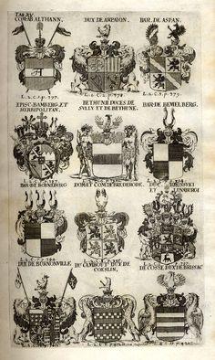 Spener, Philipp Jakob: Historia Insignium Illustrium Seu Operis Heraldici Pars Specialis. - Frankfurt <Main>, 1717. Jpg, Frankfurt, Maine, Vintage World Maps, History, Mannheim, Crests