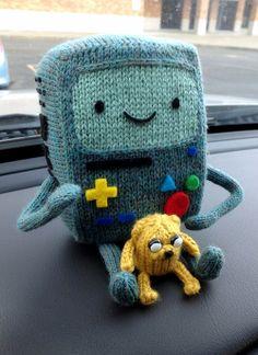 Cute knitted BMO and mini Jake