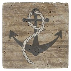 Shop Rustic Nautical Anchor Coasters created by TheShirtBox. Nautical Anchor, Stone Coasters, Custom Coasters, Travertine, Hostess Gifts, House Warming, Backdrops, Ink, Rustic