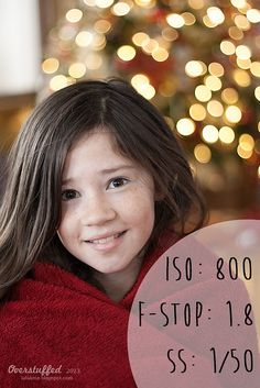 How to achieve Christmas Light bokeh in the background of a portrait
