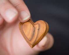 These fair-trade hand-carved olivewood hearts from Kenya are one of my absolute favorite things.