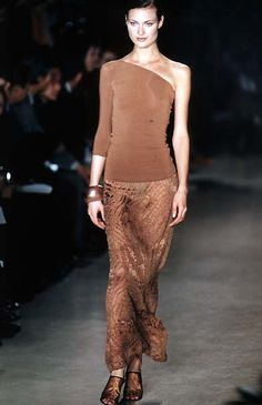 shalom harlow DONNA KARAN label by donna karan - Spring Summer 1997 New York Fashion Week -