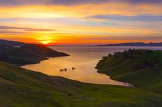 California Sunrise Photography, San Luis Reservoir Print, Bay Area Photo, Landscape Photo On Canvas, Peaceful Art, Large Lake Gallery Wrap by SusanTaylorPhoto on Etsy