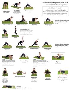 Easy poses to do at home: Hip sequence | with Tania Frechette | yogaland.ca  Great for low back + hip tension!
