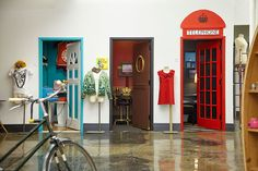 doorways to etsy's meeting rooms. would be exceedingly fun to work there:))
