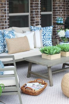 Neutral outdoor living space from Gather in Grace