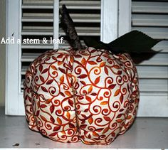 Diary of a Preppy Mom: Fabric Pumpkin with Tutorial.