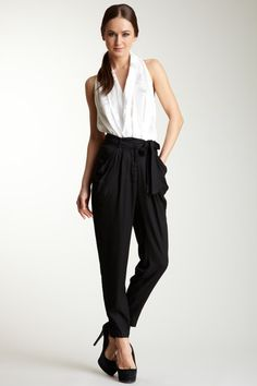 wish I could pull of harem pants like this by greylin: Very Classy ;)