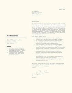 To get the job, you a need a great resume. The professionally-written, free resume examples below can help give you the inspiration you need to build an impressive resume of your own that impresses… Best Cover Letter, Cover Letter Design, Cover Letter For Resume, Cover Letter Template, Cv Template, Resume Templates, Cover Letters, Letter Templates, Templates Free