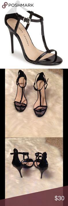 Chinese Laundry T-strap stiletto heels NWT Cute patent leather heels 4 1/4 heel. NWOB. Size 8 Chinese Laundry Shoes Heels