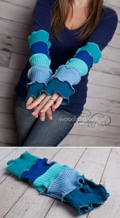 I made these  cool Ocean Inspired Armwarmers. (Katwise pattern) Love her stuff!!