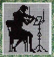 Cross Stitching, Cross Stitch Embroidery, Cross Stitch Patterns, Knitting Patterns, Cross Stitch Music, Cross Stitch Numbers, Crochet Chart, Filet Crochet, Blackwork
