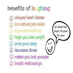 "Health reasons to laugh. @Italia Antonella why we need to ""get together"" more often"