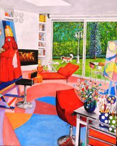 El Studio (2013) 145x115 cm oil on canvas by Maite Rodriguez  www.maiterodriguez.es