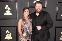 Chris Young was handsome in all black, but he took a backseat to Cassadee Pope and her engagement ring on the Grammy red carpet on Sunday (Feb. 12).