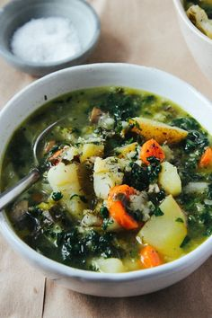 Icelandic Vegetable and Oat Soup - this looks amazing. Like an oat-accented twist on ribollita.