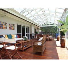 Softwoods x Pre-Cut Gable Attached Pergola Kit Suntuf Standard Building A Pergola, Deck With Pergola, Roof Design, Outdoor Living
