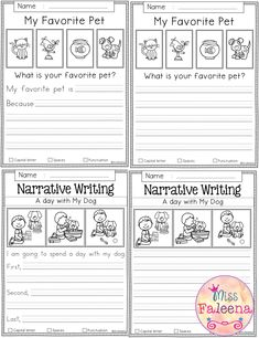Free Writing Prompts contains 10 free pages of writing prompts worksheets. This product is suitable for kindergarten and first grade students. 1st Grade Writing Prompts, Opinion Writing Prompts, First Grade Writing, Paragraph Writing, Writing Strategies, Writing Lessons, Writing Workshop, Writing Practice, Teaching Writing