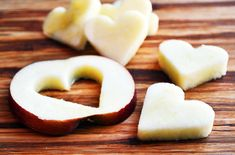 Apple Slices with PB for Valentine Muffin Tin Meal?