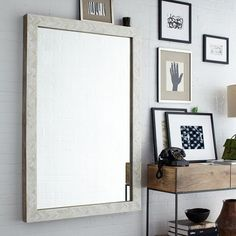 Parsons Large Wall Mirror - Bone Inlay | west elm $549 before discount