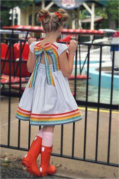 June Dress – Violette Field Threads Little Girl Dresses, Girls Dresses, Summer Dresses, Kids Outfits, Cool Outfits, Kids Wear, Children Wear, Kids Frocks, Kids Boutique