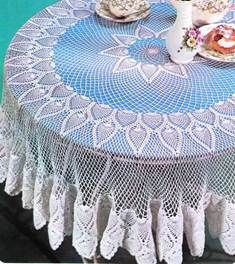 Crochet Patterns of Table Carpet - Christmas Rose