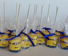 1 DOZEN Chocolate Covered Marshmallowpops  Yellow by hitsthespot