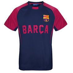 FC Barcelona Official Gift Boys Poly Training Kit T-Shirt Navy 12-13 Years XLB