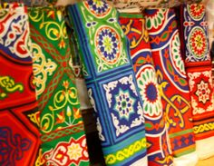 Egyptian cotton, based on the Islamic motifs found in tentmaking fabric