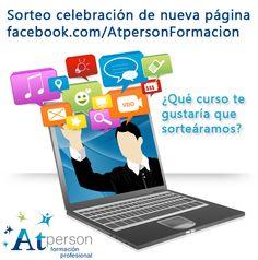 Vamos a preparar un sorteo para celebrar nuestra nueva página de Facebook. ¿Qué curso os gustaría que sorteáramos?  https://www.facebook.com/AtpersonFormacion