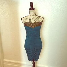Tube Top Dress Size: Small Beautiful beaded detail. Never uses, without tags. Offers welcome. Unknown Dresses