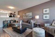 Discover your new home in Edmonton. Explore out charming communities throughout Edmonton. Sunken Living Room, Living Rooms, Conversation Pit, Property Listing, New Homes, Gallery Wall, Lounge, Stuff To Buy, Street