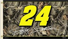 Jeff Gordon #24 Nascar 2-Sided 3X5 Flag (Real Tree) by BSI Products Inc.. $46.19. Usually ships within 3-5 business days.. Support your favorite driver by hanging this 3-by-5-foot 2-sided flag from B.S.I Products. This high-quality flag is made of durable polyester and is designed with 2 heavy-duty metal eyelets so it is easy to display. The officially licensed flag is decorated in the drivers car number; replica signature; team owner logo and realtree camouflage. The graphic...