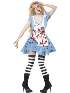 Zinogre Costume Zombie Malice In Wonderland Adult Costume - Alice has stumbled down the wrong rabbit hole and now she's in the land of the undead! Have a wicked time in Wonderland when you wear the Zombie Malice In Wonderland Adult Costume. Costume Halloween, Costume Alice, Zombie Halloween, Costume Sexy, Halloween Fancy Dress, Halloween Outfits, Costume Dress, Adult Halloween, Costume Zombie