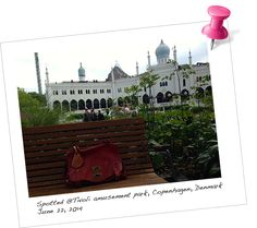 Spotted@Tivoli Amusement Park, Copenhagen, Denmark. Our beautiful travel accessory, the BabyMoon KeepsakeTAG